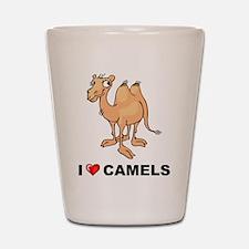 I Love Camels Shot Glass