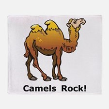 Camels Rock Throw Blanket