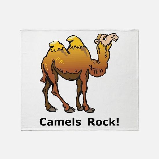 Camels Rock Throw Blanket