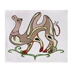 Stylized Camel Throw Blanket