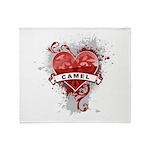 Heart Camel Throw Blanket