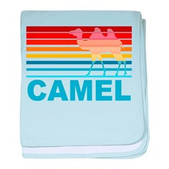 Colorful Camel baby blanket