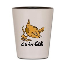 C is for Cat Shot Glass