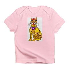 Tribal Lucky Cat Infant T-Shirt
