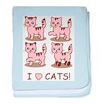 I Love Cats baby blanket
