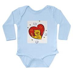 Love Cat Long Sleeve Infant Bodysuit