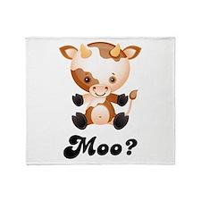 Moo Cow Throw Blanket