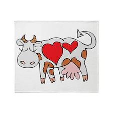 Love Cow Throw Blanket
