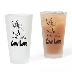 Cow Love Pint Glass