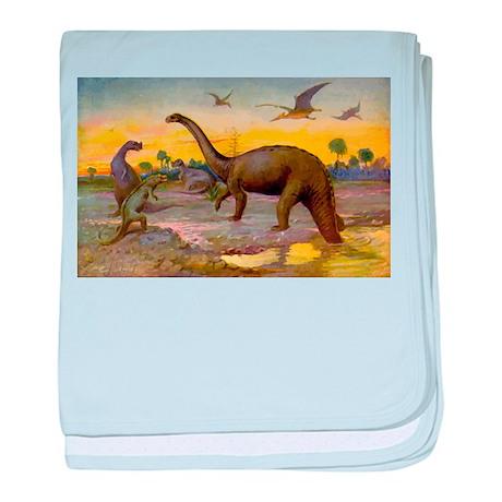 Dinosaur Art baby blanket