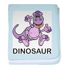 Purple Dinosaur baby blanket