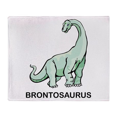 Brontosaurus Throw Blanket
