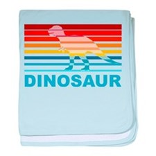 Colorful Dinosaur baby blanket
