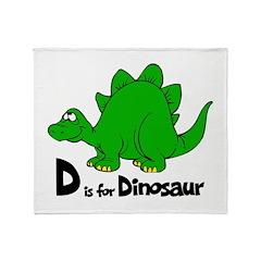 D Is For Dinosaur Throw Blanket
