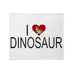 I Love Dinosaur Throw Blanket
