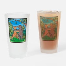 Dinosaurs In Love Pint Glass