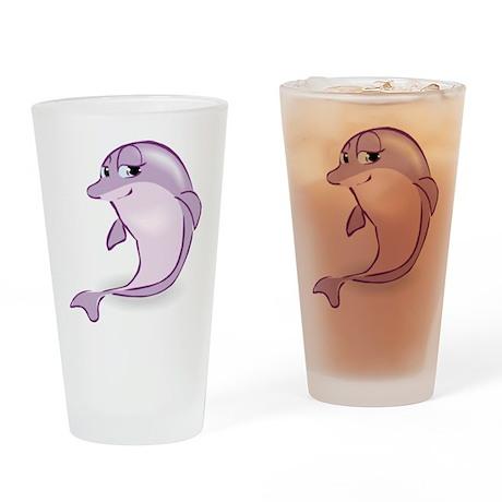 Cute Purple Dolphin Pint Glass