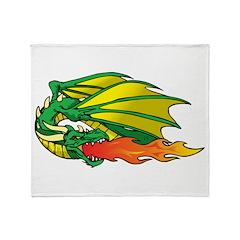 Fire Breathing Dragon Throw Blanket