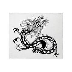 Chinese Dragon Throw Blanket