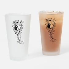 Yin Yang Dragon Pint Glass