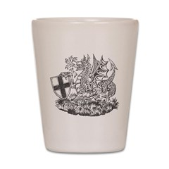 Vintage Dragon Crest Shot Glass