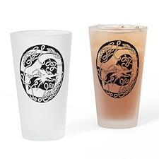 Celtic Dragon Pint Glass