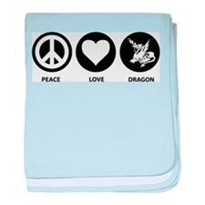 Peace Love Dragon baby blanket