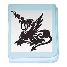 Dragon Tattoo baby blanket