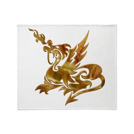 Gold Dragon Throw Blanket
