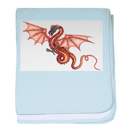 Pencil Drawn Dragon baby blanket