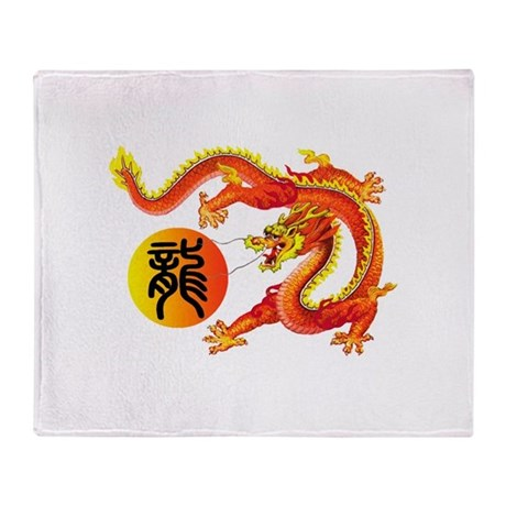 Oriental Dragon Throw Blanket