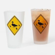 Duck Sign Pint Glass