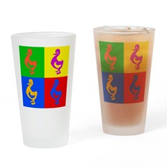Pop Art Duck Pint Glass
