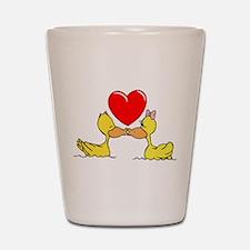 Ducks In Love Shot Glass
