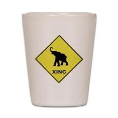 Elephant Crossing Shot Glass