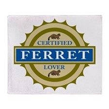 Ferret Lover Throw Blanket