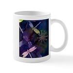 snowflakes and dragonflies mug