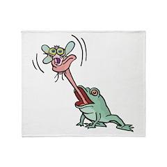 Feeding Frog Throw Blanket