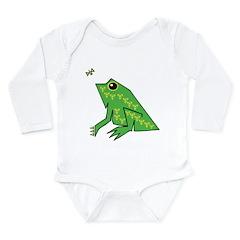 Ancient Frog Long Sleeve Infant Bodysuit