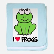 I Love Frogs baby blanket