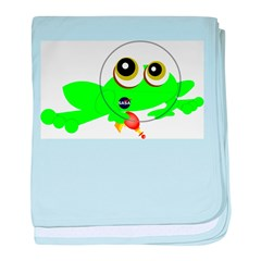 Space Frog baby blanket