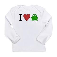 I Love Frog Long Sleeve Infant T-Shirt