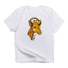 Headphone Giraffe Infant T-Shirt