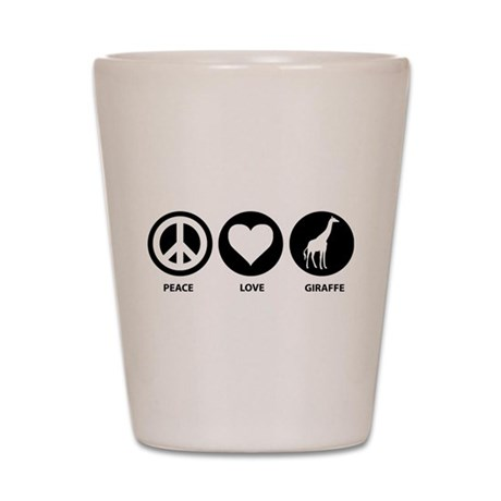 Love Peace Giraffe Shot Glass