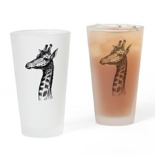 Hand Drawn Giraffe Pint Glass