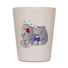 Crying Hippo Shot Glass