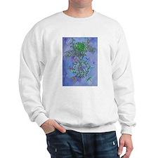 heart chakra pentacle sweat shirt