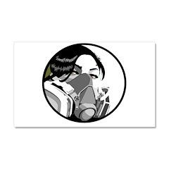 Graf mask Car Magnet 12 x 20