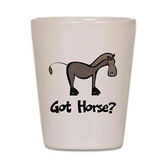Got Horse Shot Glass