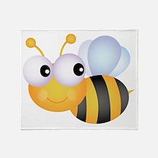 Cute Bee Throw Blanket